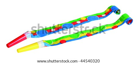 Party Blowers photo on the white background