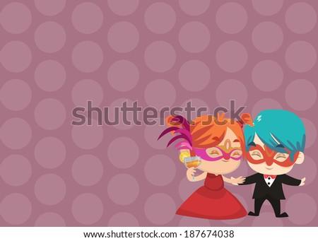 Party Card - Irish and Akito Mask Party