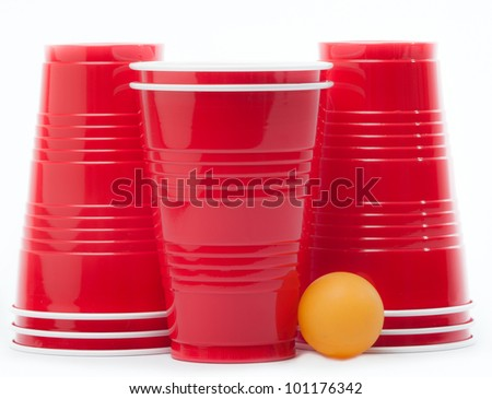 Party Cups with Ping Pong Ball, Party with Alcohol, College Party