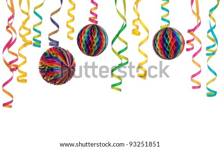 Party decoration isolated on white background