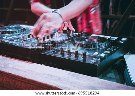 Party DJ Turntables Mixer Music entertainment Event Pub nightlife