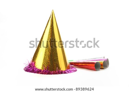 Party hat isolated on white.