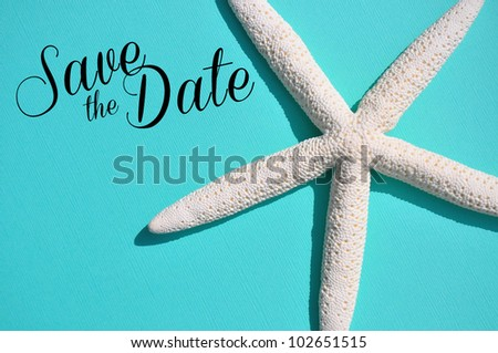 party invitation on pretty blue background