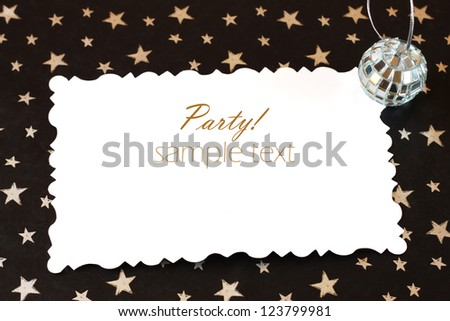 party invitation, or invitation card with copy space