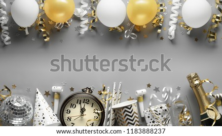 party ornaments for new year eve or other festivities