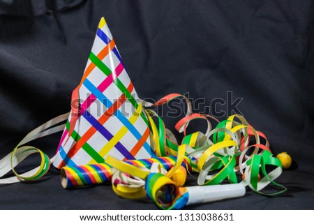 Party, party favors and streamers for carnival, birthday, sylvester #1313038631