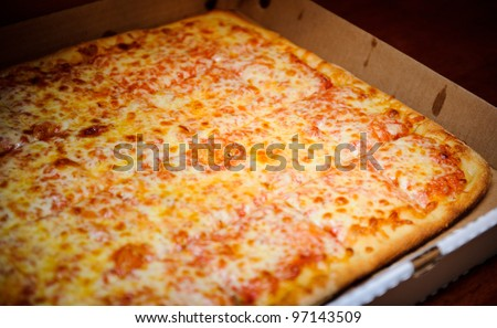Party pizza in the box