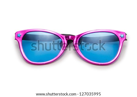 Party sunglasses isolated on the white