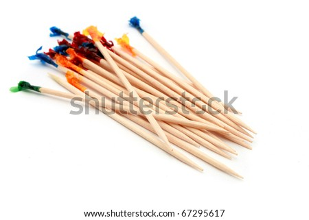 Party Toothpick isolated on white