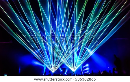 Party with laser rays
