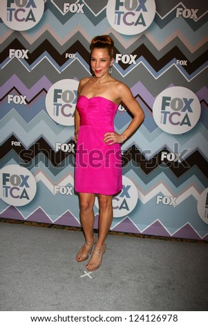PASADENA, CA - JAN 8:  Becky Baeling attends the FOX TV 2013 TCA Winter Press Tour at Langham Huntington Hotel on January 8, 2013 in Pasadena, CA - stock photo