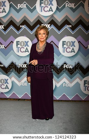 PASADENA, CA  - JAN 8:  Cloris Leachman attends the FOX TV 2013 TCA Winter Press Tour at Langham Huntington Hotel on January 8, 2013 in Pasadena, CA