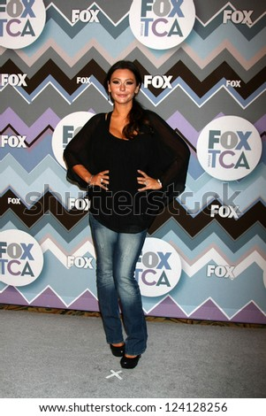 PASADENA, CA - JAN 8:  Jenni Farley attends the FOX TV 2013 TCA Winter Press Tour at Langham Huntington Hotel on January 8, 2013 in Pasadena, CA - stock photo