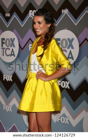 PASADENA, CA- JAN 8:  Lea Michele attends the FOX TV 2013 TCA Winter Press Tour at Langham Huntington Hotel on January 8, 2013 in Pasadena, CA