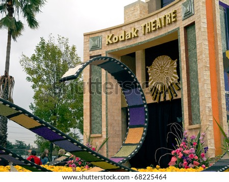 PASADENA, CA - JANUARY 1: The City of Los Angeles designed a float based on Cirque du Soleil's new show IRIS at the 122nd Tournament of Roses Parade on January 1, 2011 in Pasadena, California.