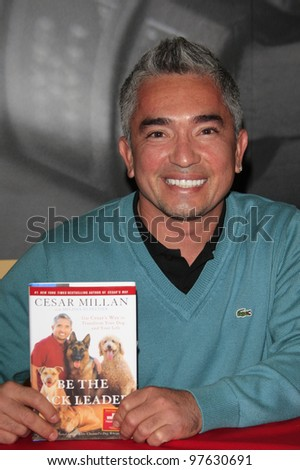 PASADENA, CA - NOV 27: Cesar Millan 'The Dog Whisperer' at a book signing event on November 27, 2007 in Pasadena, California
