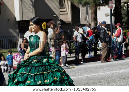PASADENA, CALIFORNIA, USA - FEBRUARY 16, 2019: 37th Annual Black History Parade and Festival which celebrates Black Heritage and Culture. The community and surrounding cities joined the celebration. #1315482965