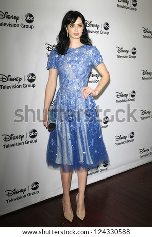 PASADENA - JAN 10: Krysten Ritter at the Disney ABC Television Group 2013 TCA Winter Press Tour at The Langham Huntington Hotel on January 10, 2013 in Pasadena, CA