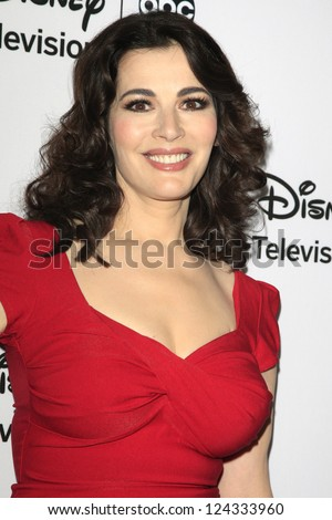 PASADENA - JAN 10: Nigella Lawson at the Disney ABC Television Group 2013 TCA Winter Press Tour at The Langham Huntington Hotel on January 10, 2013 in Pasadena, CA