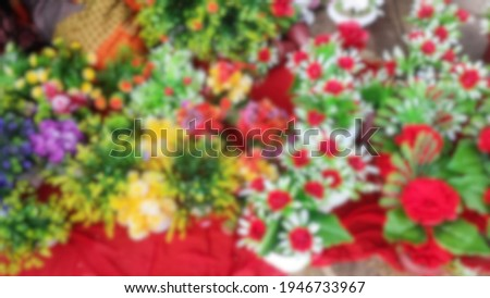 Pascua Florida Day with blur flower background Foto stock ©