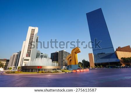 Shutterstock Paseo de la Reforma square in downtown Mexico city