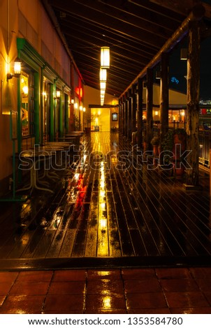 Passage that shines in the rain and shines #1353584780