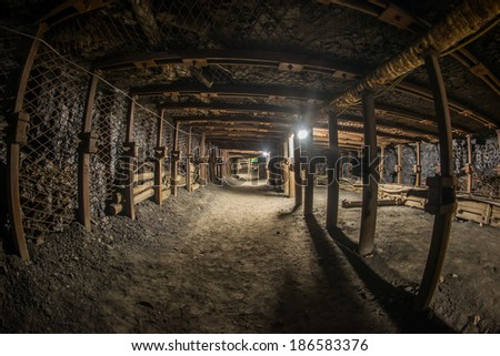 Passage through old coal mine