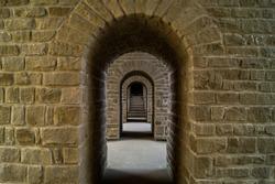 Passage through the stone walls