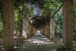 Passageway at the National Gardens at Athens Greece