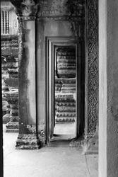 Passageway in a temple. Angkor Wat.