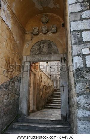 Passageway in Dubrovnik,Croatia.