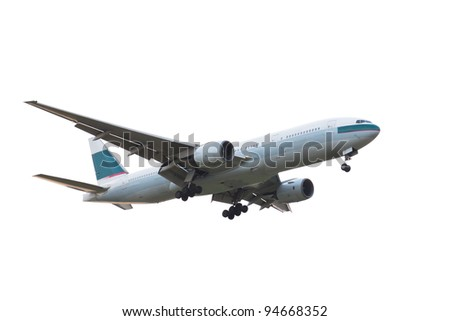 Passanger airplane isolated over white background
