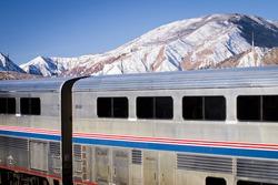 Passanger train at the Glenwood Springs train station.