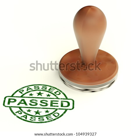 Passed Stamp Shows Quality Control Approved