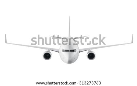 Passenger airplane isolated on white background #313273760