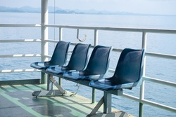 Passenger chair on ferry to Koh Chang