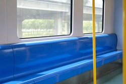 passenger chair seat in electric train. public transportation