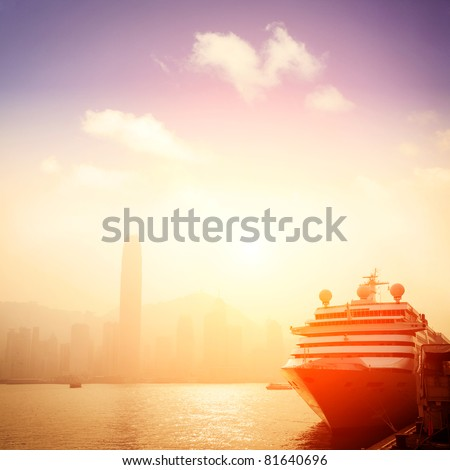 passenger liner in Hong kong