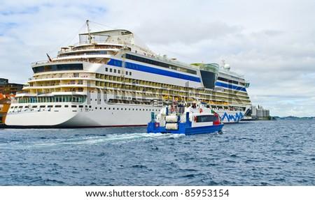 Passenger ships at the port of Stavanger, Norway