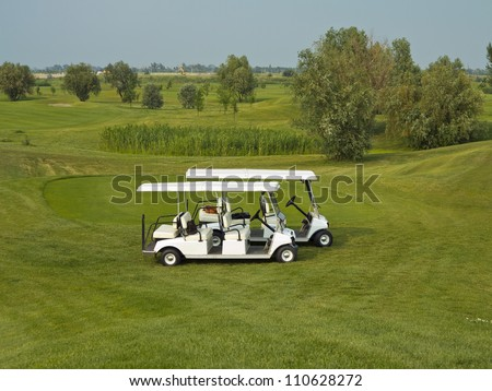 Passenger Shuttle Golf Car is compact and manageable.