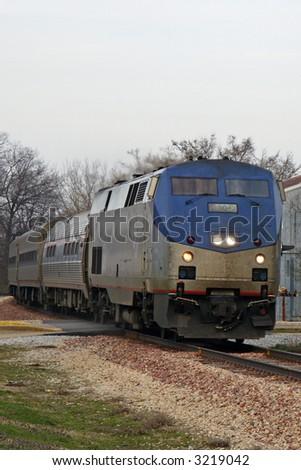 Passenger Train in Rural America