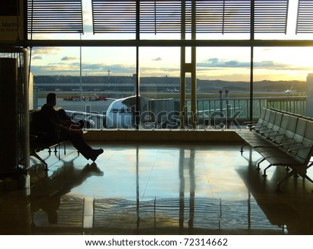 passenger waiting in the airport
