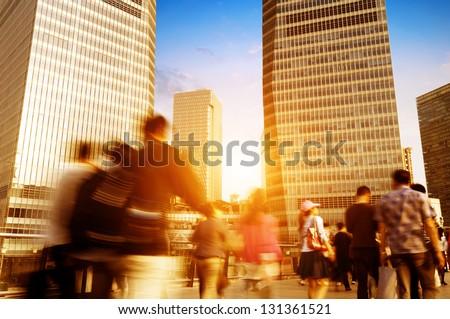 passenger walking on the walkway at shanghai china. #131361521