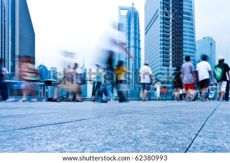 passenger walking on the walkway at shanghai china. #62380993