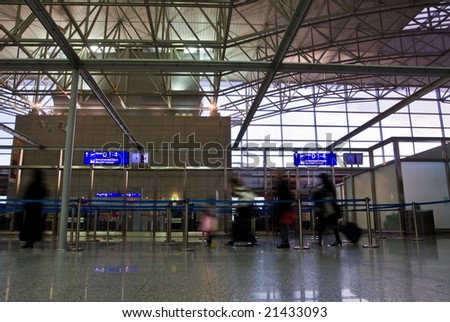 Passengers at airport security