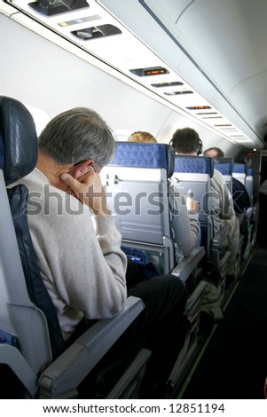 passengers on airplane