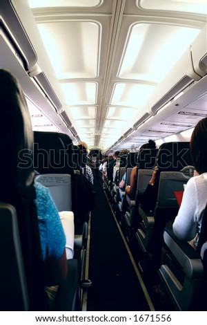Passengers onboard an airplane