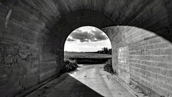 Passing tunnel vision dark to light