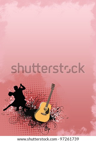 Passion dance background with space (poster, web, leaflet, magazine)