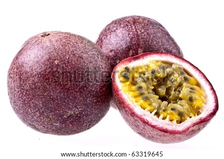 Passion Fruit, isolated on white